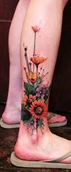 watercolor flower half sleeve butterfly arm diy
