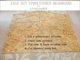 How To Make Your Own Fabric Headboard by Livelovediy How To Make An Upholstered Headboard With A Drop Cloth