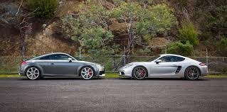 porsche cayman comparison audi tt rs coupe v porsche 718 cayman s comparison gearopen