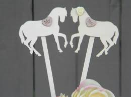 horse wedding cake toppers rustic cake toppers mr and mrs