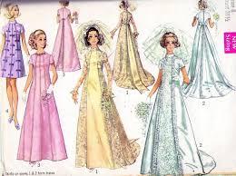 60s wedding dress bridal gown pattern simplicity 8091 beautiful