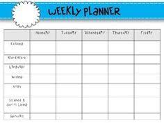 blank lesson plan template weekly lesson plan template i like