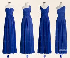 royal blue bridesmaid dresses affordable bridesmaid dresses - Royal Blue Chiffon Bridesmaid Dresses