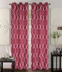 Burgundy Curtain Panels Pair Of Owen Ivory Faux Silk Window Curtain Panels W Grommets