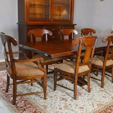 tuscan dining room tables arhaus tuscany dining room table and eight tuscany dining chairs ebth