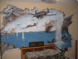 aviation wall mural of a dogfight looks like it s world war 1 era awesome murals wall for kids rooms ideas