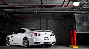 white nissan amazing white nissan gt r in a garage 1920x1080 full hd 16 9