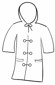 winter jacket coloring page images pictures becuo clip art library