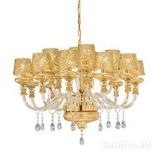 15 Light Chandelier Chandelier Cassis Toscana Gold White ø95 15 Lights 24 Carat