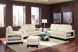 504421 paige sofa in cream bonded leather by coaster w options