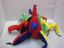 halloween hats supply clown cap bell clown hat fringe clown hat props