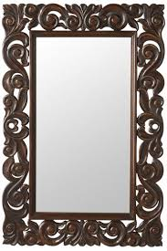 padma mango wood carved mirror wall mirrors home decor