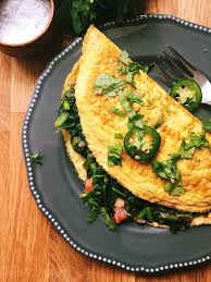omelet de acelgas a la mexicana mexican style chard omelette