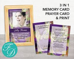 prayer cards for funeral funeral prayer card etsy