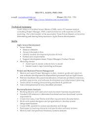 Business Systems Analyst Resume Sample by Master Resume Best Resume Sample Certified Scrum Master Resume