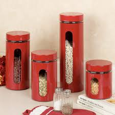 red canister sets kitchen home design