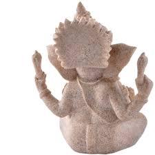 ganesha ornament statue figurine elephant hindu sand finish small