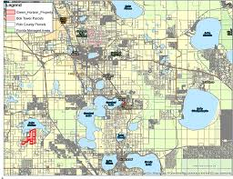 Land O Lakes Florida Map by Green Horizon Land Trust
