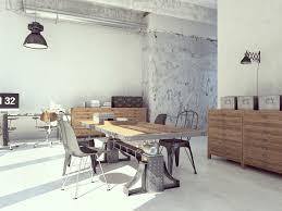 bureau loft industriel 50 salons et salles à manger de style loft ou industriel étonnants