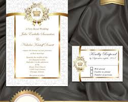 royal wedding invitation royal invitation etsy