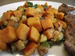 cuisiner patate douce poele ma cuisine a du sens poêlée de courgettes et patates douces au