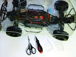 try this slick black on black flames rc car paint scheme rc driver