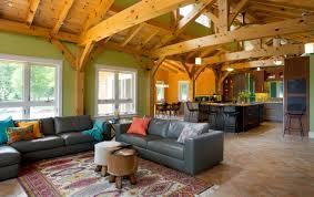 New England Home Interior Design Net Zero New England Timber Frame Home Gets Gorgeous Green Kitchen