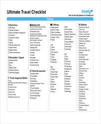 travel checklist images Travel checklist templates 11 free samples examples format jpg