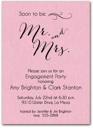 engagement party invitation wording mr and mrs wedding invitation wording shimmery pink mr mrs