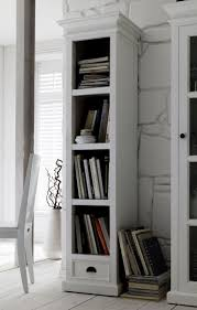 White Distressed Bookcase by Bookcase Use The Narrow Bookcase To Organize Your Book