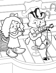 country star coloring page handipoints