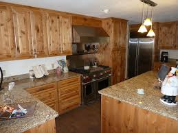 Alder Cabinets Knotty Alder Cabinets For A Rustic Kitchen With A Pendant Lights