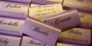 wedding chocolates place setting wedding chocolate favours wedding personalised