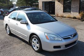 honda accord ex 2006 used 2006 honda accord ex l silver leather sunroof for sale