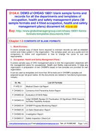 ohsas 18001 sample forms pdf flipbook