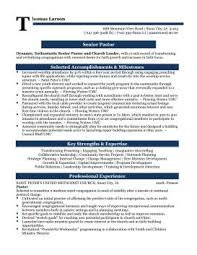 Ministry Resume Template Senior Pastor Professional Resume Sle Matt S Survival Stuff