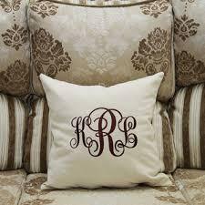 monogram pillow covers custom from comfortdecorhouse on etsy