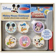 Mickey Mouse Clubhouse Bedroom Set Mickey Mouse Clubhouse Wooden Slice And Bake Cookie Set Walmart Com