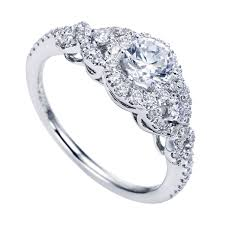 gabriel and co engagement rings gabriel co white gold contemporary halo engagement ring w er6951d4