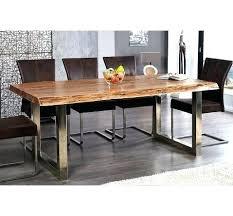 table cuisine bois fantaisie table cuisine bois de a manger en massif et metal chrome