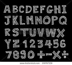 font sketch hand drawing vector letters stock vector 158679254