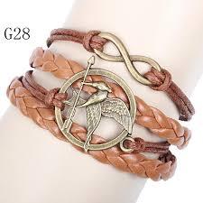 vintage infinity bracelet images Vintage charm wrap bracelet infinity hunger games mockingjay jpg