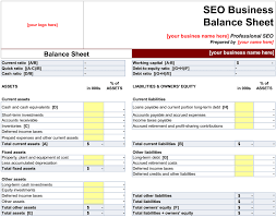 Excel Balance Sheet Template by Balance Sheet Template For Small Business Excel