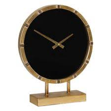 Modern Desk Clock Aldo Gold And Black Table Clock Uttermost 06433 Ebay
