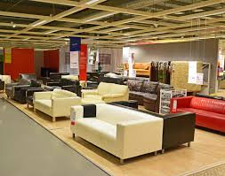 various design and color for sofa in local ikea shop editorial photo