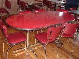 Kitchen  Metal Table Top Retro Chrome Kitchen Chairs Wood Dining - Chrome kitchen table
