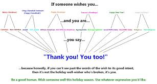 happy holidays the only response you need for any season s