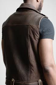 biker jacket men men u0027s brown sleeveless biker jacket styled gilet u2013 bogijko clothing