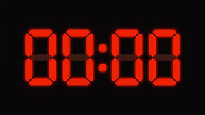digital clock countdown from sixty to zero hd led display