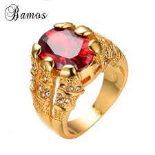 red jewelry rings images New fashion big oval red male wedding ring men 39 s love jewelry 14kt jpg